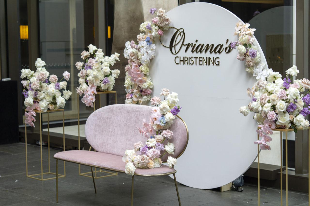 Oriana's christening