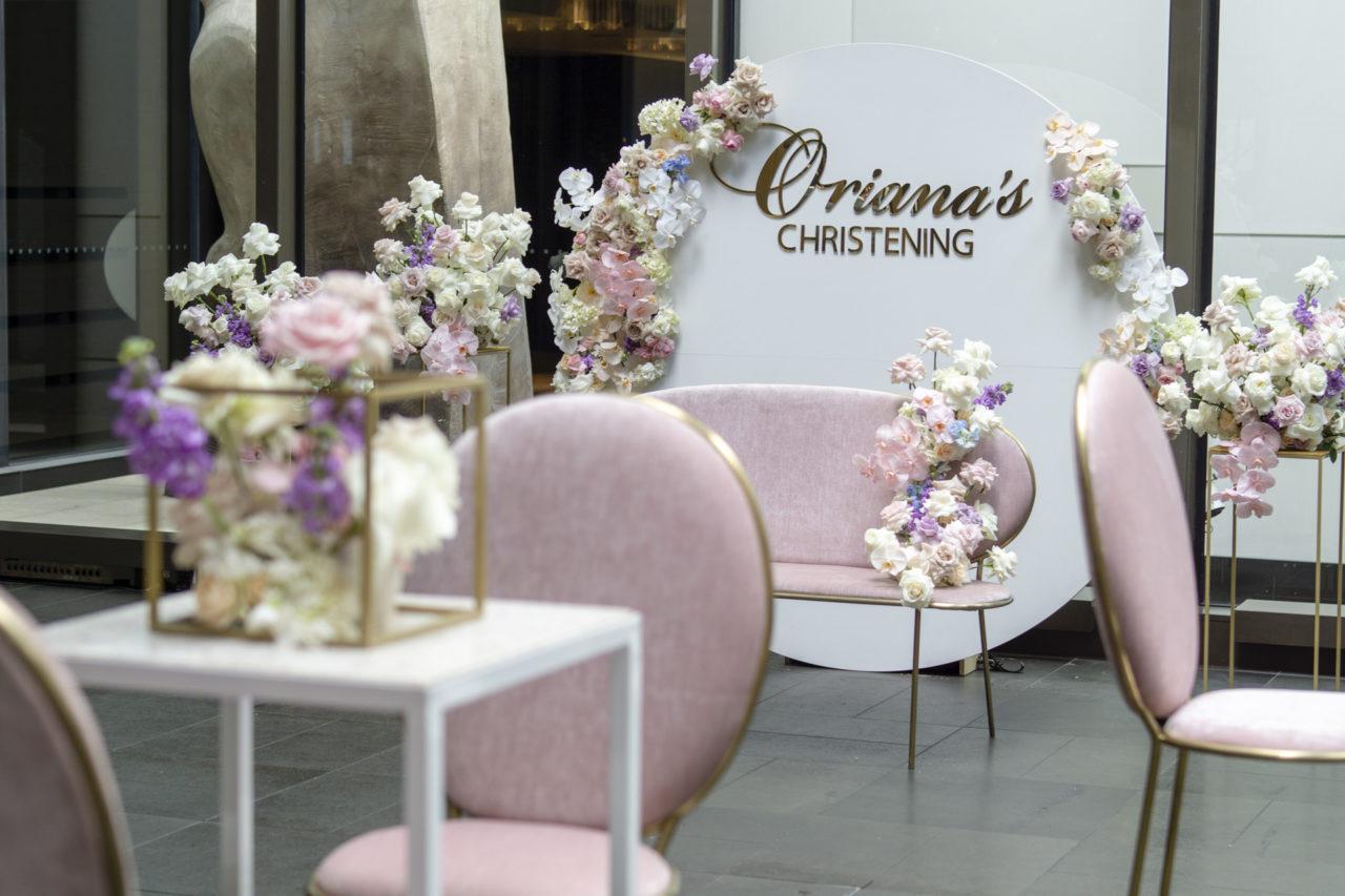 Oriana's christening styling