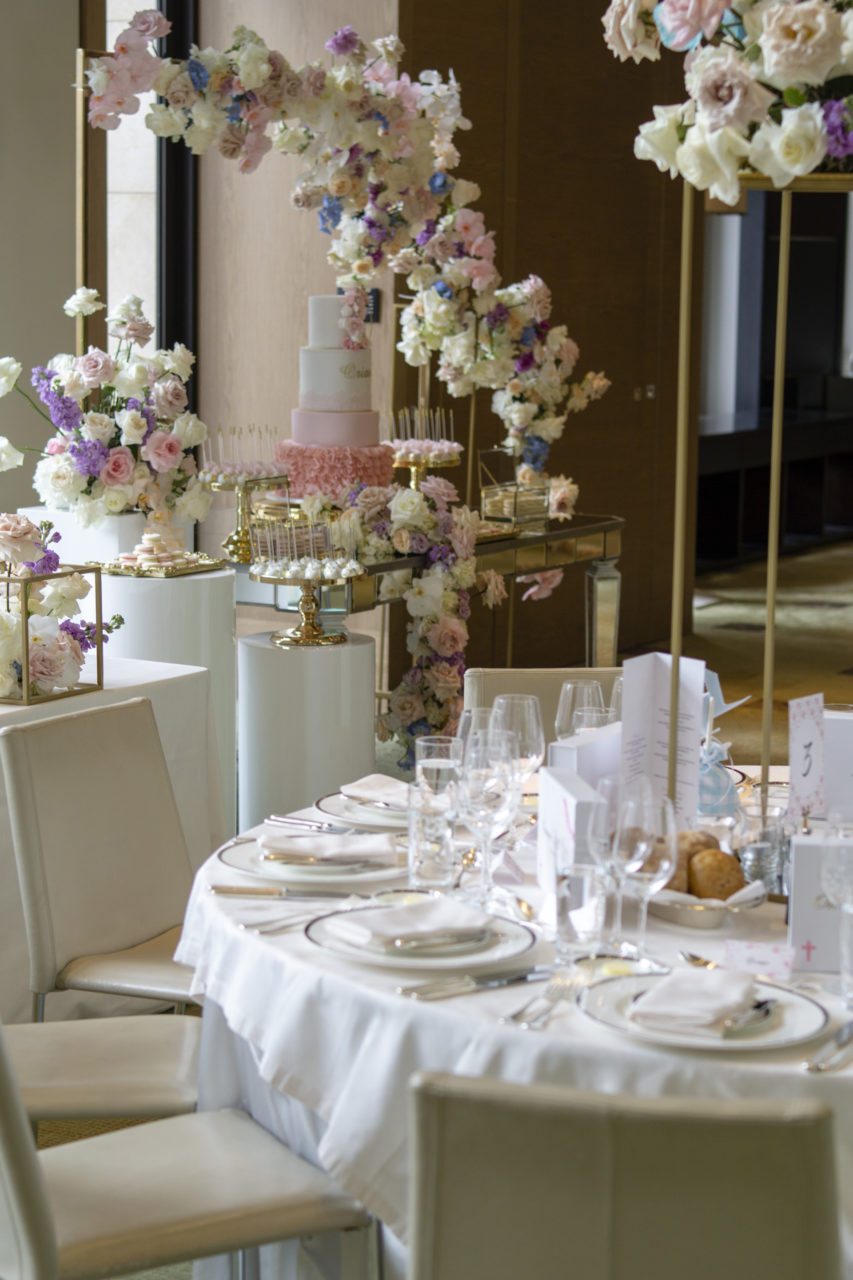christening event styling