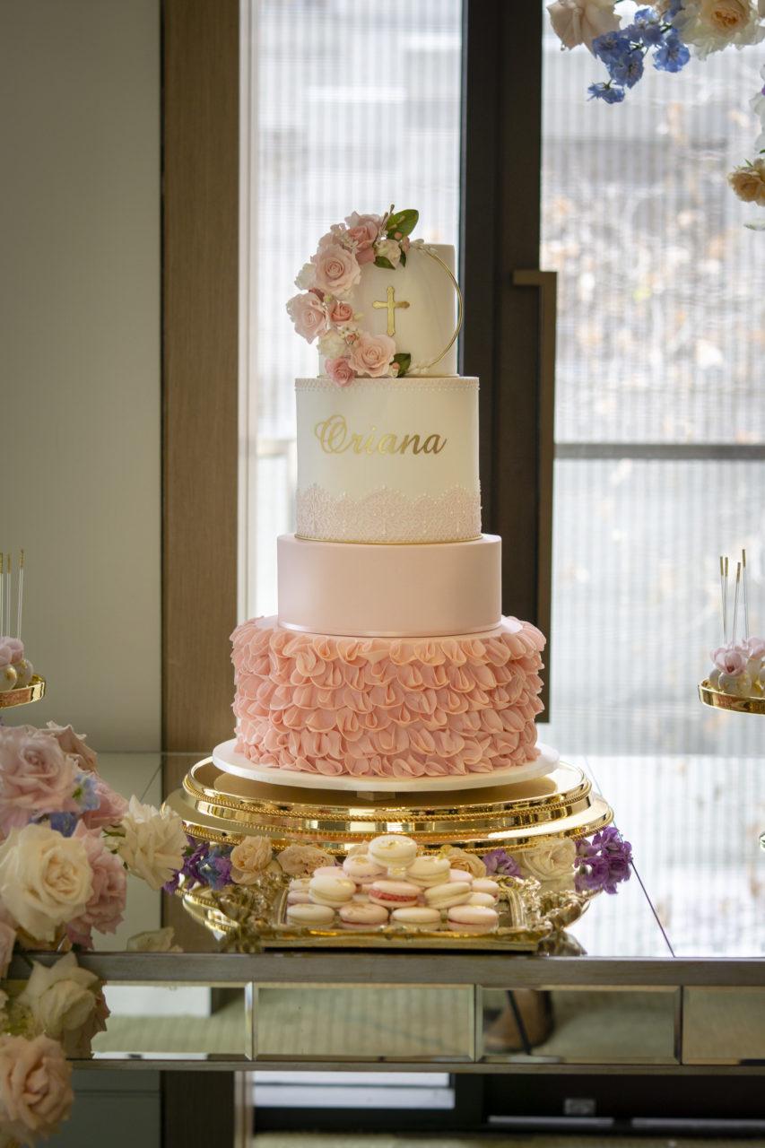 Oriana's christening cake