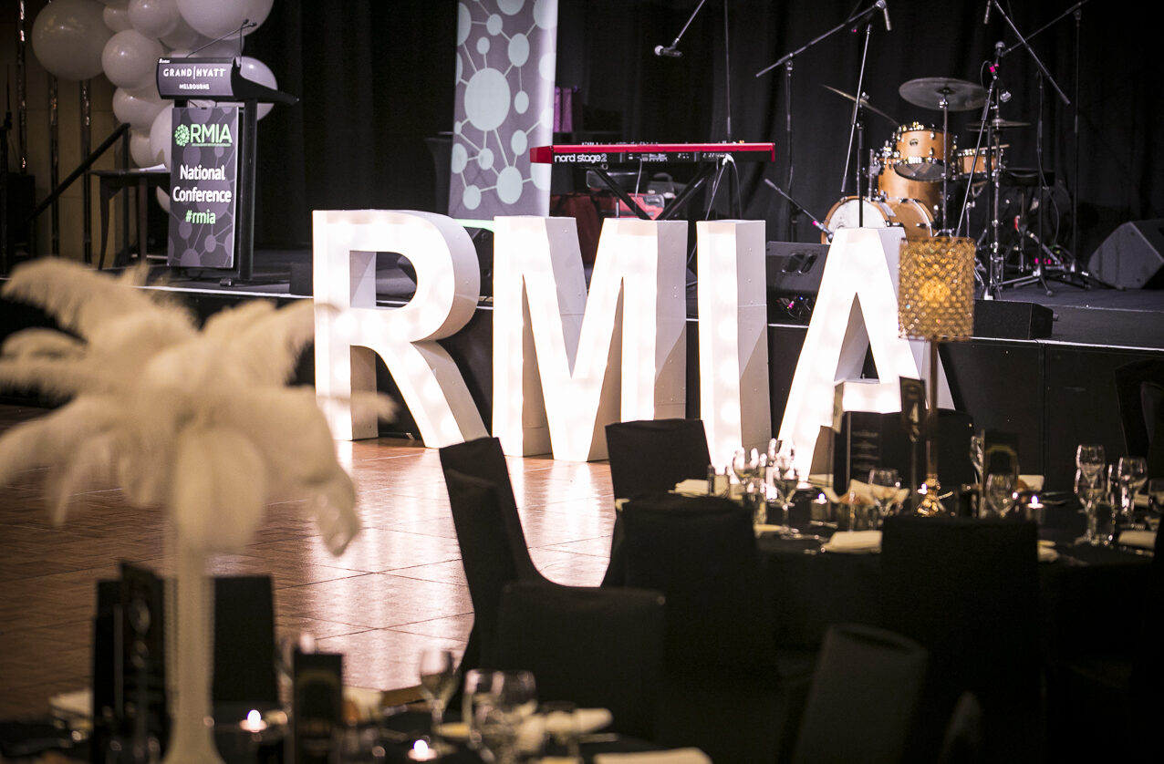 RMIA corporate event styling